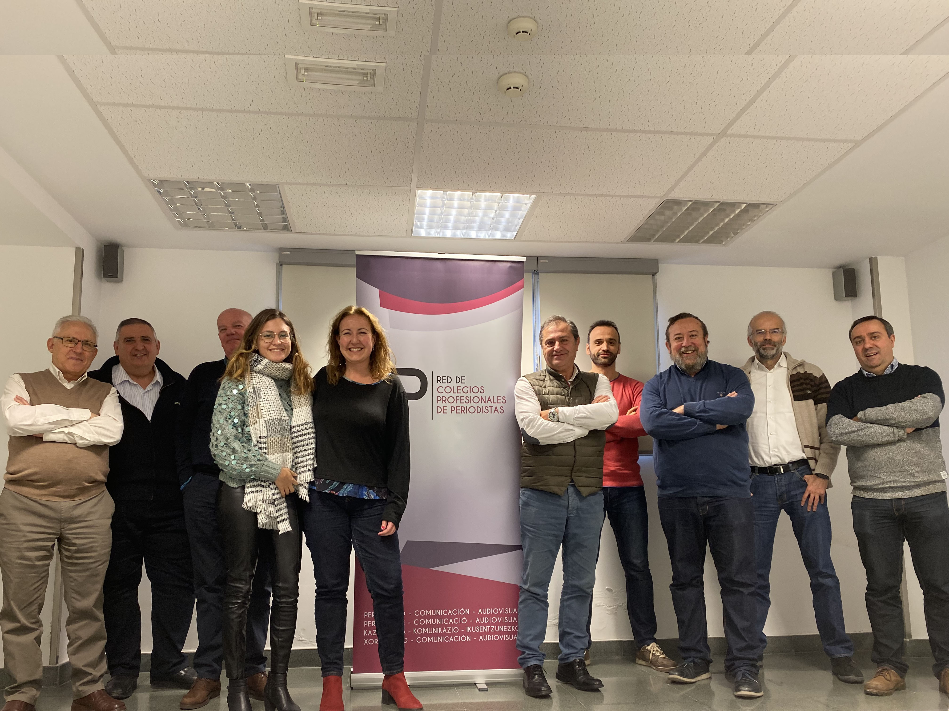 Foto de la reunión de la Red de Colegios Profesionales de Periodistas celebrada en Madrid.